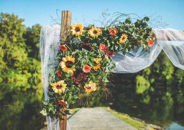 Sunflower Wedding Arbor/Arch