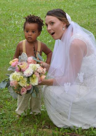 Boho Wedding Flowers Dahlias Lisianthus Hydragneas