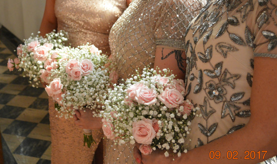 Blush Wedding Bridesmaids Bouquets