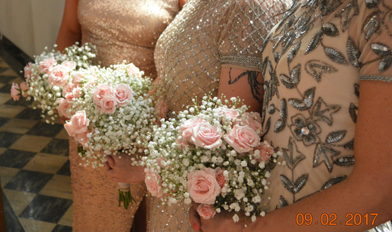 Blush Wedding Bridesmaids Bouquets