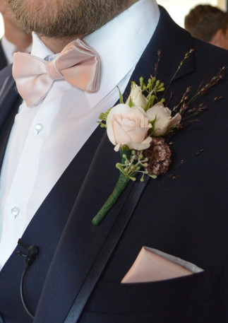 Blush Wedding Boutonniere