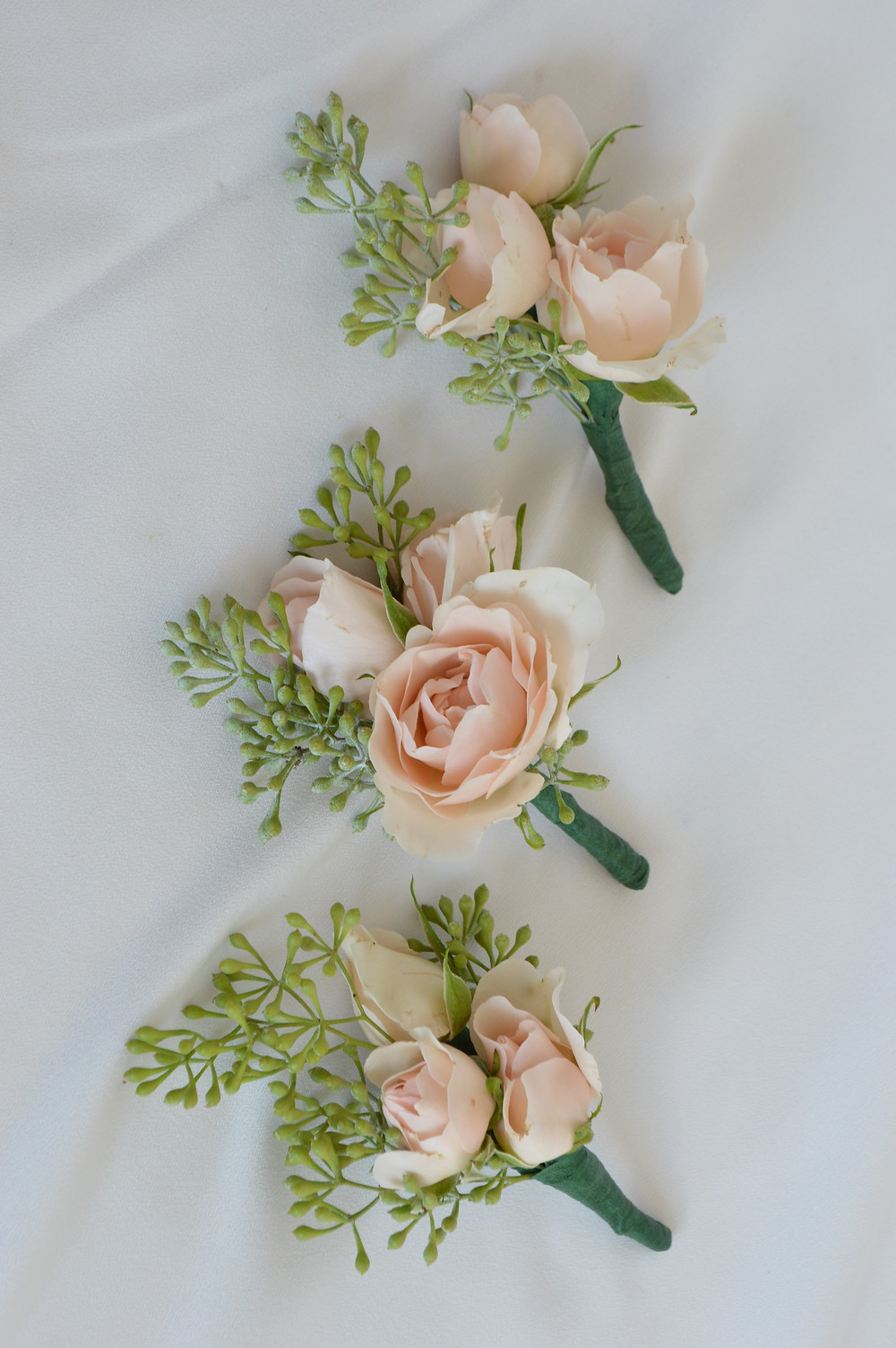 Blush Rose and Seeded Eucalyptus Bouts