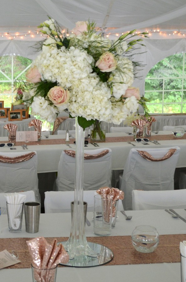 Eiffel Tower for Rose Gold Wedding