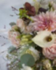 Blush Burgundy Dahlia Lisianthus Wedding