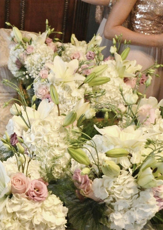 Rose Gold Wedding Bouquets