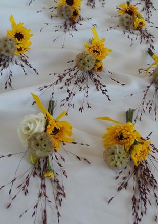 Sunflower & Starflower Boutonniere