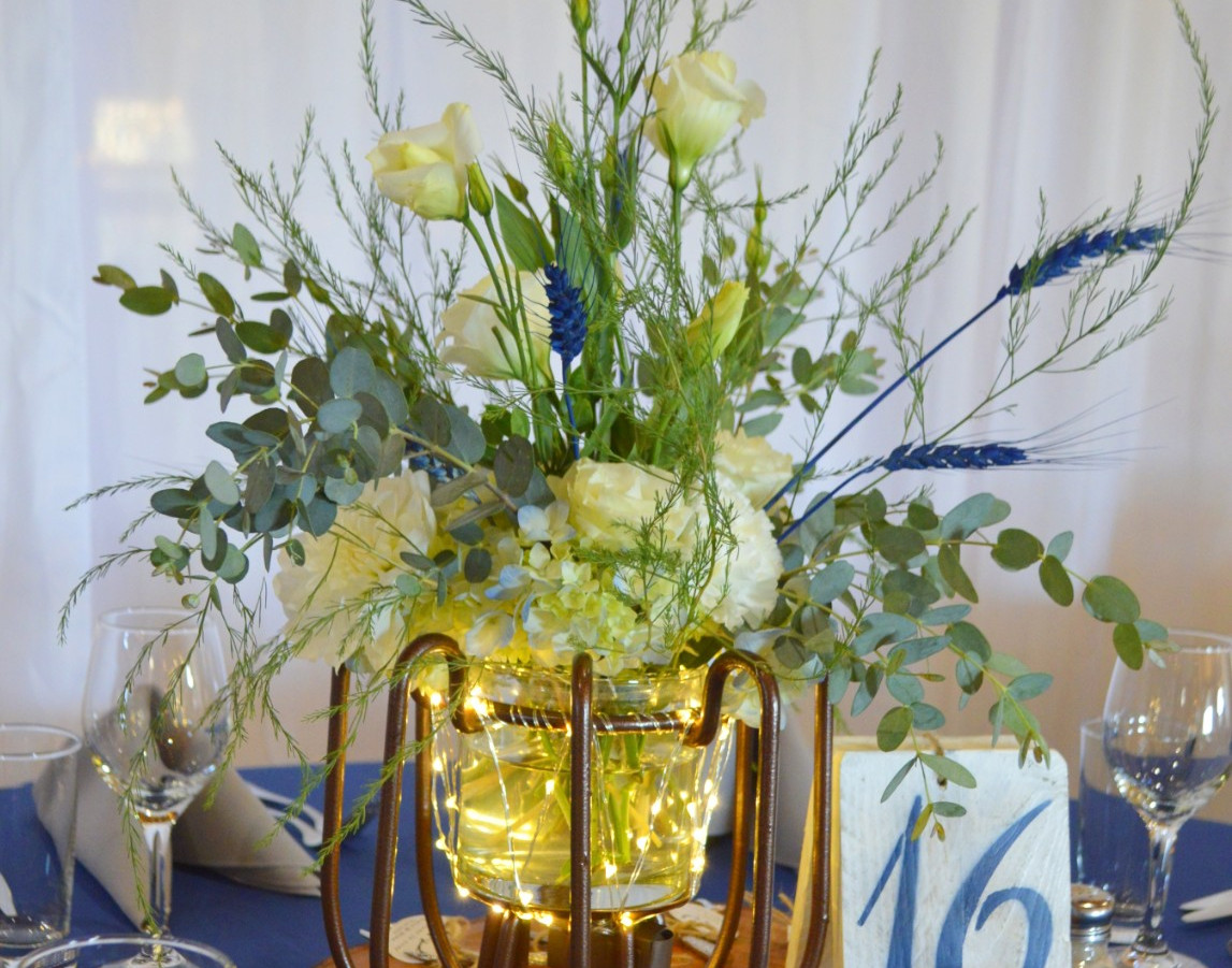 Dusty Blue Wedding Centerpieces