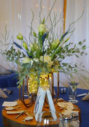 Dusty Blue Wedding Centerpieces