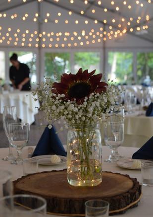 Red Sunflower Wedding Centerpiece