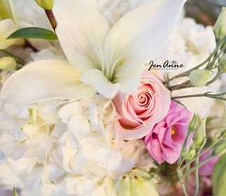 Hydrangea, Rose, Lily, and Lisianthus Bouquet