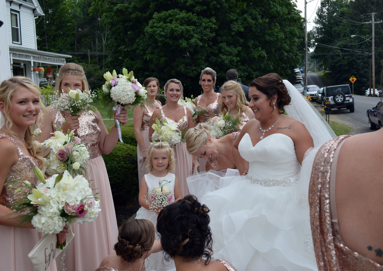 Rose Gold Wedding Bridal Party