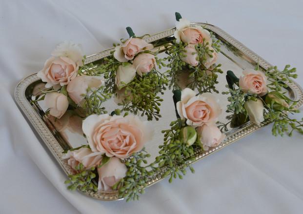 Blush Wedding Boutonnieres