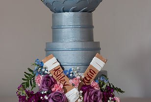 Stanley Cup Wedding Cake Roses Delphiniums