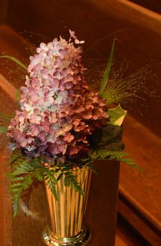 Blush Wedding Pew Decor