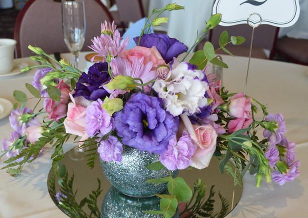 Blush, Pink, & Lavender Centerpiece