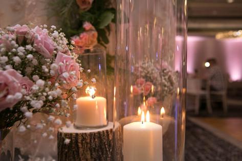 Bridesmaids Bouquet repurposed for Head Table Decor