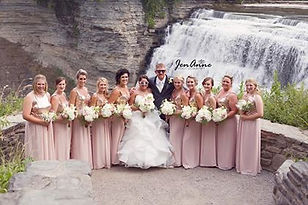 Rose Gold Wedding Flowes