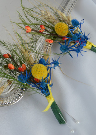 Billyball and Seaholly Boutonniere