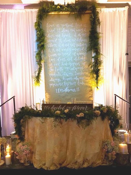 Blush Wedding Sweet Heart Table