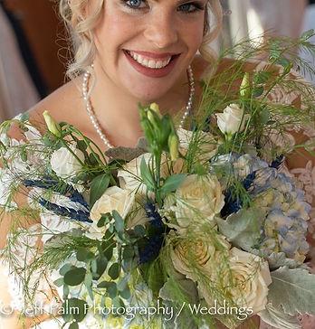 Dusty Blue Wedding Bouquet