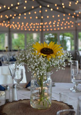 Yellow Sunflower Wedding Centerpiece