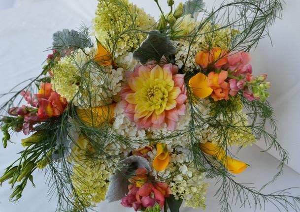 Hydrangea and Dahlia Bridal Bouquet