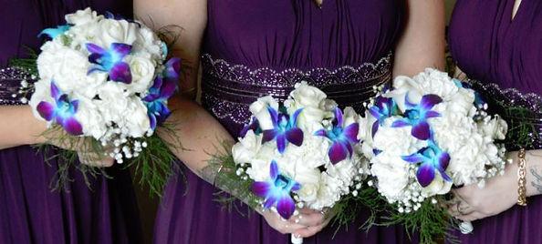 LAVENDER BLUE DENDROBIUM ORCHID WEDDNG BOUQUETS