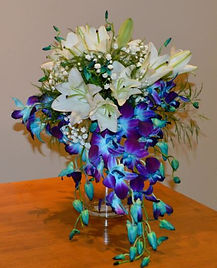 LAVENDER BLUE DENDROBIUM ORCHID WEDDING FLOWERS