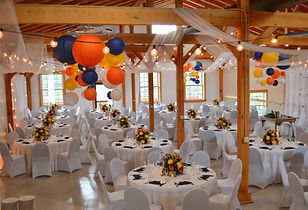 Blue Orange Yellow Wedding Decor