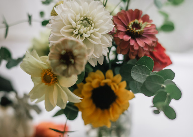 Just-picked Fresh Wedding Flowers