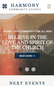Community & Education website templates – Church