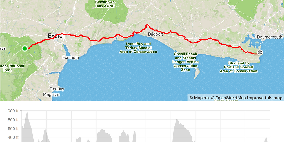 Breathe for Life Challenge -  Devon to Dorset Jurassic Coast