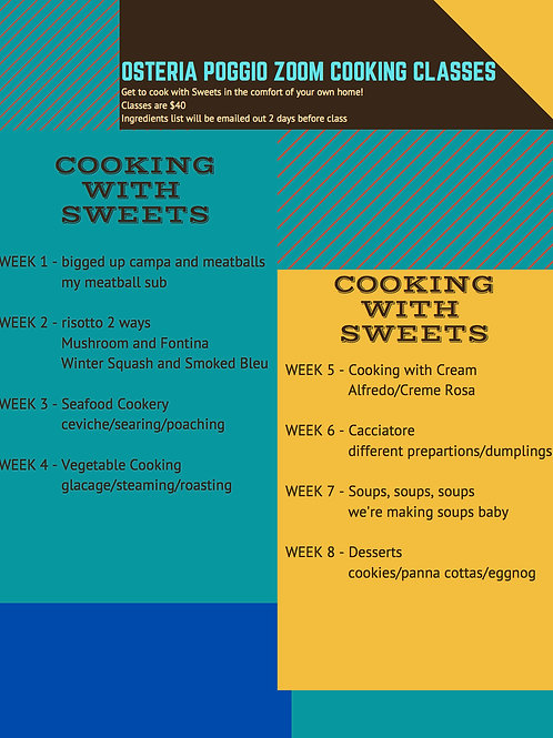 Zoom Cooking Classes