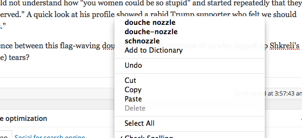 Thanks Spellcheck!