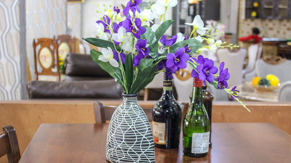 Bottle like Clay Pottery Flower Vase, Decorative Vase for Home Decor Living Room