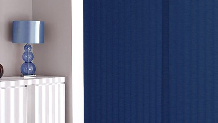 Navy Blue Vertical Blinds #159