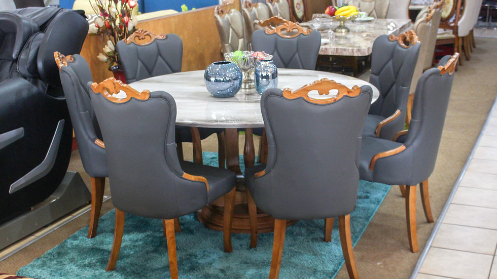 Wilber Marble Dining, 6 seater