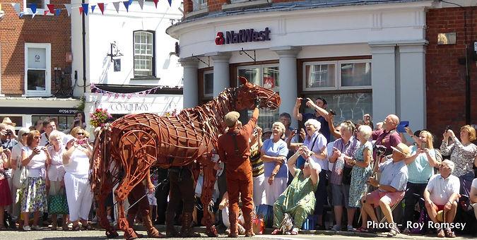 Romsey War Horse celebrations -Joey the war horse. Phono - Roy Romsey
