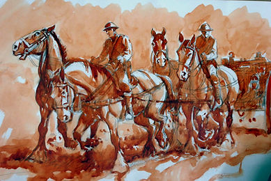 Romsey War Horse - Painting
