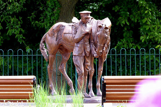 Romsey War Horse unveiled - photo Roy Romsey