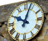 Romsey Abbey Clock - photo Roy Romsey