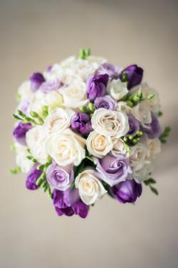 Bridal Bouquet in mauve purple cream and white.JPG
