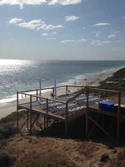 Beach Ceremony hire package at Jindalee Deck