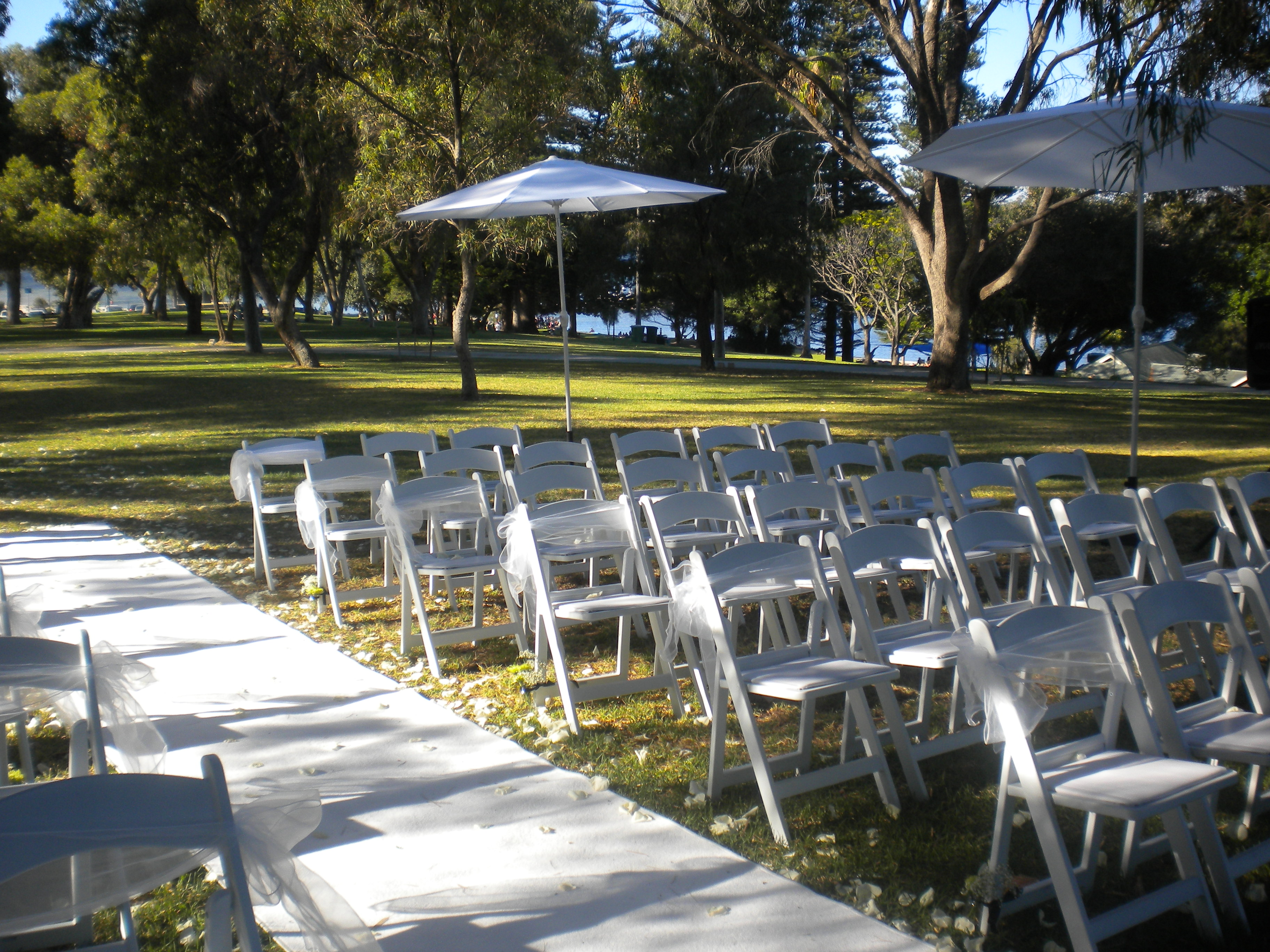 Garden Ceremony Setup