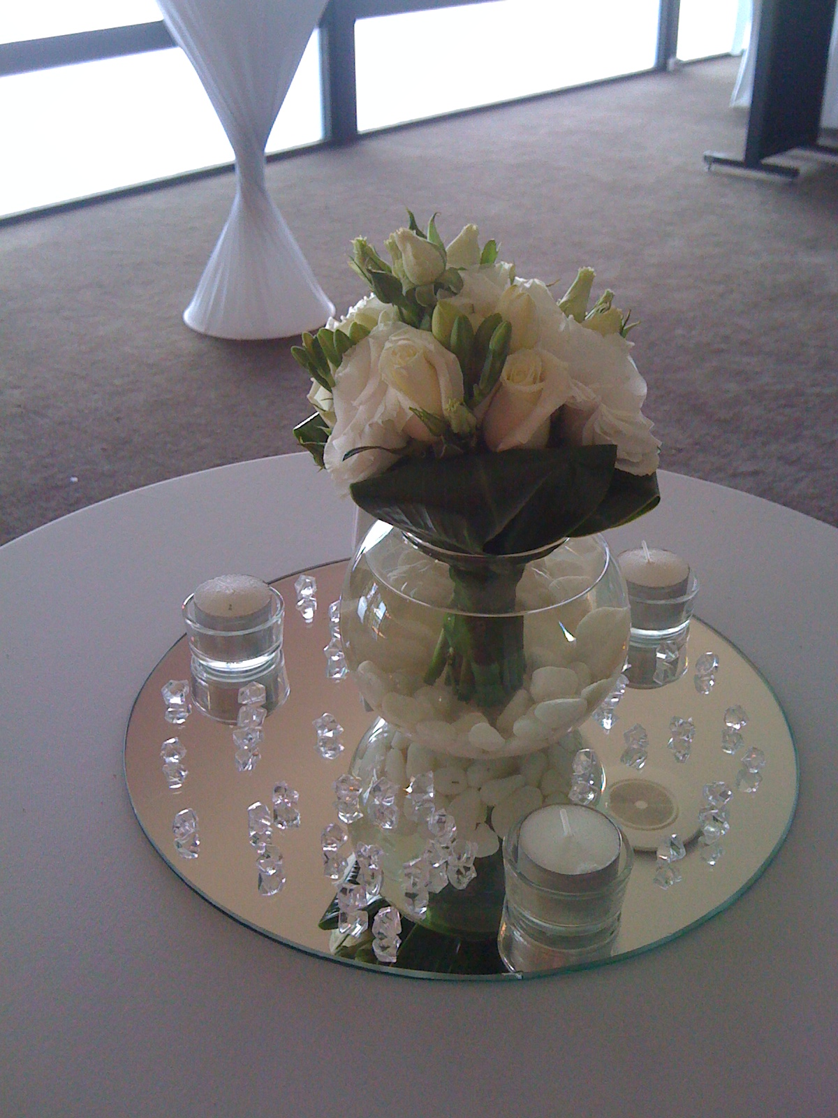 Cocktail flower decoration