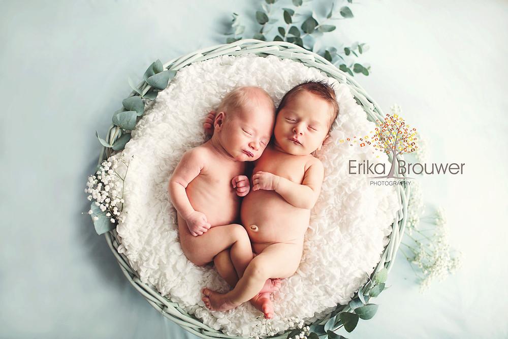 Newborn fotoshoot tweeling