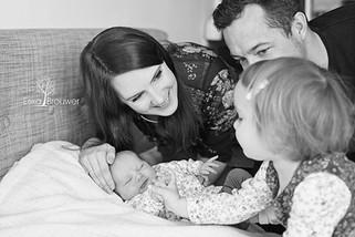 Lifestyle familie newborn fotoshoot