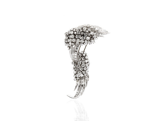 22 ct Vintage Diamond Brooch front