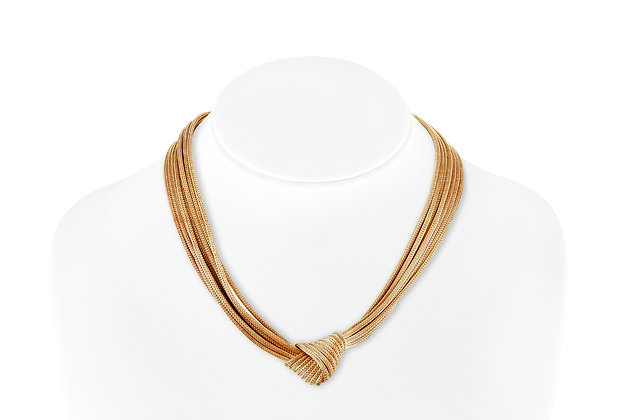 14 Kara Gold Bow Tie Necklace front