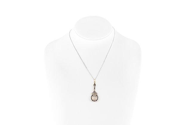 Diamond Sapphire Pendant-Necklace bust